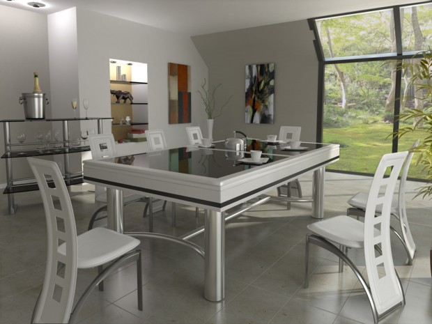 Billard table blanc laque - La maison du designer ...